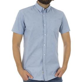 529945fcfbda Ανδρικό Κοντομάνικο Πουκάμισο Slim Fit Aloha Oxford Shirt DOUBLE GS-463S  Γαλάζιο