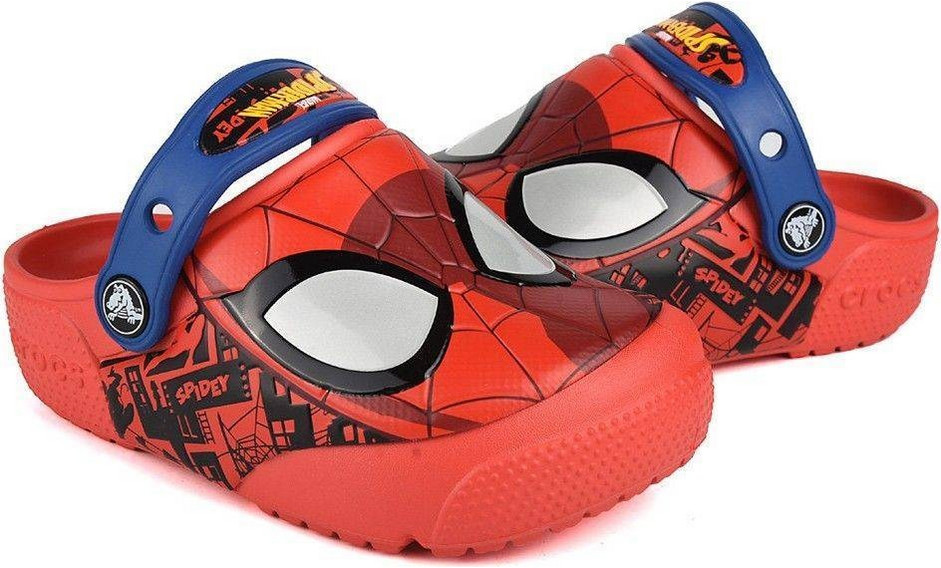 6d9b5250e Crocs Fun Lab Spiderman Light Clogs K 205018-8C1