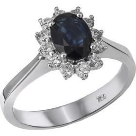 Μονόπετρο δαχτυλίδι Κ18 με ζαφείρι και μπριγιάν 030186 030186 Χρυσός 18  Καράτια 3aade88c588