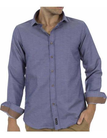 Ανδρικό Μακρυμάνικο Πουκάμισο CND Shirts 2700-6 Indigo a6e59b0837c