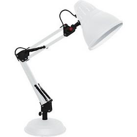 ec71558b42 Φωτιστικό Γραφείου Επιτραπέζιο μεταλλικό λευκό ματ με σπαστό βραχίονα Aca  2429MWH