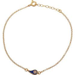 Βραχιόλι ματάκι σταγόνα από ασήμι 925 - ASBG701G - Χρυσό 76ec45065f1