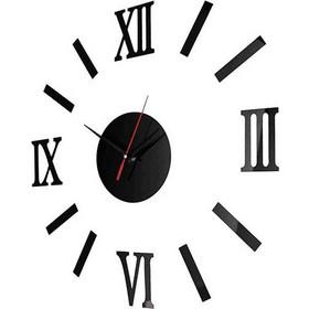 Ρολόι τοίχου με αυτοκόλλητους λατινικούς αριθμούς - 40 εκ 5e26b31f838
