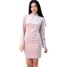cfd299a70496 Φόρεμα βελούδινο με πέρλες