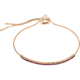 Βραχιόλι από ροζ χρυσό 18 καρατίων με ρουμπίνια 0 d51f19be57b