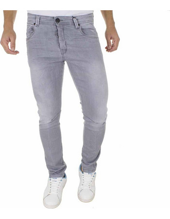 3cea7ddfdfb0 Ανδρικό Τζιν Παντελόνι DAMAGED Jeans D5B slim basic Γκρι