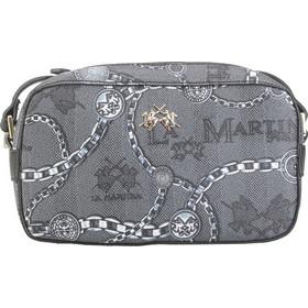 La Martina 41W229 M0012 Mini Shoulder Bag Reconquista F9094 Black Paloma  Chain 058704a77b8