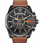Diesel Mega Chief Brown Leather Strap Chronograph DZ4343