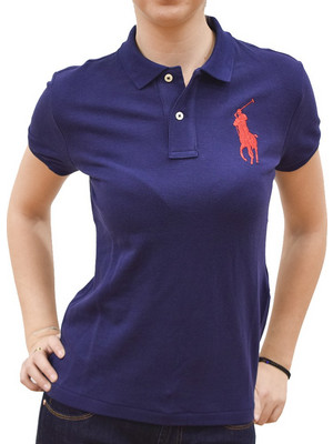 POLO RALPH LAUREN SKINNY FIT BIG PONY POLO NEWPORT NAVY