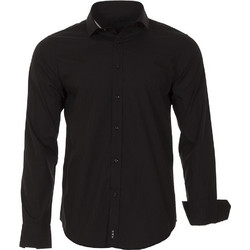 15267db5dc56 Ανδρικό Μακρυμάνικο Πουκάμισο Slim Fit CND Shirts 1100-2 Μαύρο