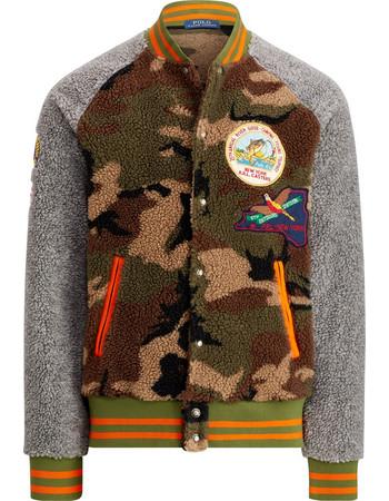 9386c0a205f0 Polo Ralph Lauren ανδρικό bomber Camo Fleece Baseball Jacket - 710731678001  - Χακί