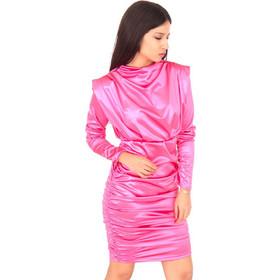 2f80f174fbd8 Φούξια Σατέν Mini Φόρεμα Φούξια Silia D