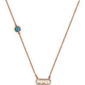 Κολιέ για μαμάδες από ρόζ χρυσός 9 καρατίων Κ9 με την λέξη Boy με πέτρες  ζιργκόν 13e85f9d2e2