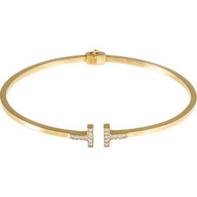 Βραχιόλι χειροπέδα από χρυσό 14 καρατίων με ζιρκόν και ανοιχτά άκρα. FT26639 3eaa1a09f04