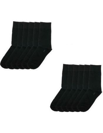 Κάλτσα βαμβακερή ανδρική σε μαύρο χρώμα σετ 12 ζεύγη 8c5e3fa0786