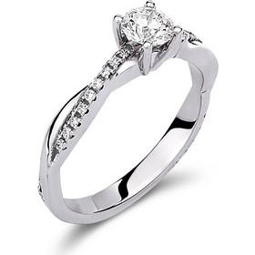 Μονόπετρο δαχτυλίδι απο λευκό χρυσο 18 καρατίων με κεντρικό διαμάντι 0.42ct  πιστοποιημένο από το GIA 7b604c474df