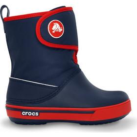 Crocs Kids  Crocband(TM) II.5 Gust Boot Navy   Red Crocs b458049c29e