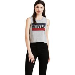 Levi s γυναικεία μπλούζα αμάνικη Graphic Crop Tank - 3981000-05 - Γκρι 11ba5281ae0