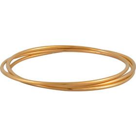 Βραχιόλι τριπλή βέργα από ανοξείδωτο ατσάλι - ATBG056G - Χρυσό c5e0707d3c2