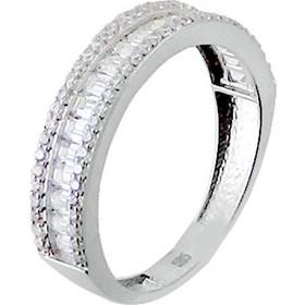Λευκόχρυσο σειρέ δαχτυλίδι Κ14 με ζιργκόν DS069A 12dc7d62ae1