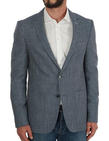 HUGO Harvey Slim-fit Birdseye Melange Jacket 6084345a19b