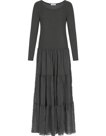Maxi ριπ φόρεμα με βολάν στο τελείωμα WL7814.8067+1 f2c30a2063a