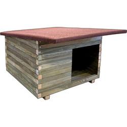 7f01d52177a0 Ξύλινο σπιτάκι σκύλου Royal No2-Tesias Wooden Products