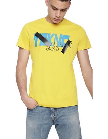 Diesel ανδρικό Τ-Shirt T-Diego-WH - 00SHAQ 0HARE - Κίτρινο 71186dc7a42
