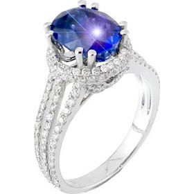 Λευκόχρυσο δαχτυλίδι μονόπετρο Κ18 με brilliant και ορυκτό ζαφείρι DBR148A bee8c01924b