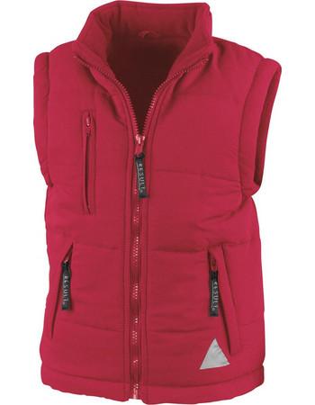 Παιδικό αμάνικο μπουφάν Bodywarmer Result R088J - Red c89826fcbd0