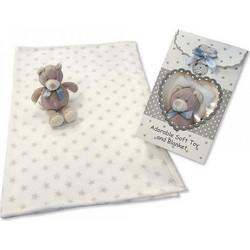 d53b0c1b1c2 Κουβέρτα βελούρ αγκαλιάς ,Αγγλικής προέλευσης , της Snuggle Baby με ΔΩΡΟ  οικολογικό αρκουδάκι κουδουνίστρα Snuggle