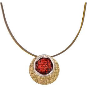 Χειροποίητο κολιέ με κύκλο από ασήμι 925 μπρούτζο και σμάλτο - ASKR842R -  Κόκκινο f235b8853db