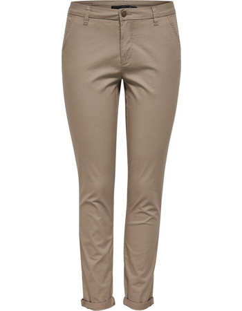 ONLY Γυναικείο Υφασμάτινο Παντελόνι SKINNY CHINOS PANTS PNT AKM NOOS  (15129975-Desert Taupe) ceb0ef049cc