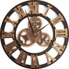 Μεγάλο Ξύλινο Ρολόι Τοίχου Με Εντυπωσιακά Γρανάζια 45cm 1bb807b4549