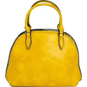 ffcfb44ec0 Γυναικεία ώχρα τσάντα ώμου με πλεκτή αλυσίδα 533031