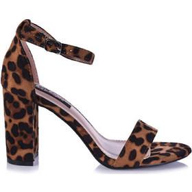 81f63db32e Πέδιλα λεοπάρ σουέτ με μπαρέτα και χοντρό τακούνι 342104leo. Tsoukalas Shoes