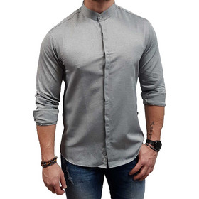 5ae33f9371c4 DASH DOT - 9616-02 - Mao - Grey - Slim Fit - Πουκάμισο. Dash   Dot