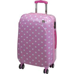 790716bcca A2S Βαλίτσα Polka dot pink Μεσαία (65x40x28)