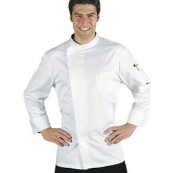 fc08ba087873 Σακάκι Μαγειρικής Ανδρικό Chef Λευκό Μακρυμάνικο Με Press Button - PRETORIA  EXTRA LIGHT
