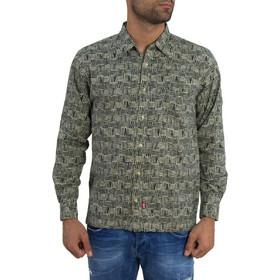 025c8e89347c Ανδρικό μακρυμάνικο πουκάμισο Levis μαύρο ζακάρ 68589