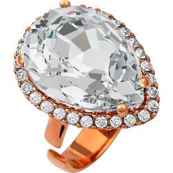 Ασημένιο δαχτυλίδι 925 ροζέτα δάκρυ με λευκή πέτρα SWAROVSKI AD-V15819WR1 cc19958541a