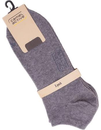 Camel Active ανδρικό σετ κάλτσες κοντές (3 τεμάχια) - CA-6595 - Γκρι ff8c35a4185