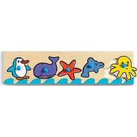 Djeco Ξύλινα σφηνώματα με 4 ζωακια θαλασσης Sea n co 23bc154f34e
