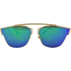 57fbe1413a Γυναικεία Γυαλιά Ηλίου Avery Sunglasses με Μεταλλικό Χρυσό σκελετό και  Μπλε-Πράσινο Φακό Καθρέφτη -