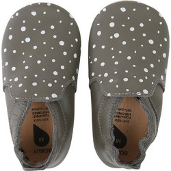 Bobux βρεφκό παπούτσι Grey Silver Spots Trims Loafer S Softsoles 2936e208a18