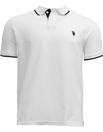 Ανδρικό Βαμβακερό Polo T-Shirt Χρώματος Λευκό US Polo ASSN 27509f9f41c