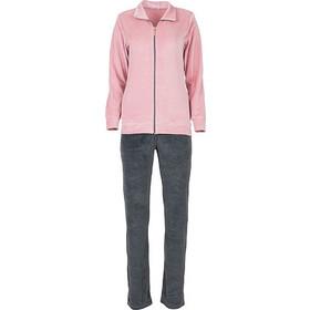 f5ff5508c179 Luna ροζ-γκρι γυναικεία βελουτέ φόρμα με animal σχέδιο πίσω 6567