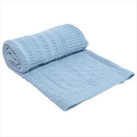 Πλεκτή Κουβέρτα Αγκαλιάς Geometry Blue 70 100cm Kikkaboo 4b489039751