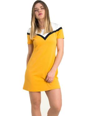 3169607fea Γυναικείο ώχρα φόρεμα άλφα γραμμή Lipsy 1190602
