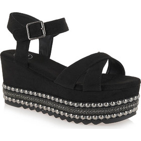 8191fb6021 Shoes Γυναικεία Πέδιλα Πλατφόρμες MACAU-716 Μαύρο... Exe .